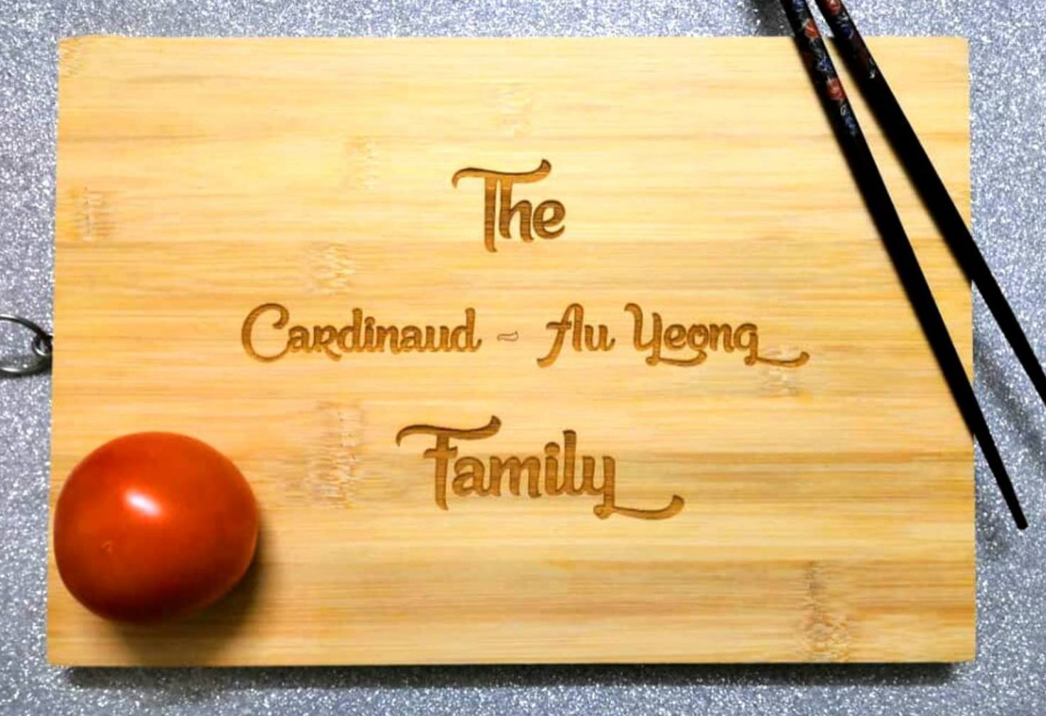 Personalised Laser Engrave Wooden Cutting Board