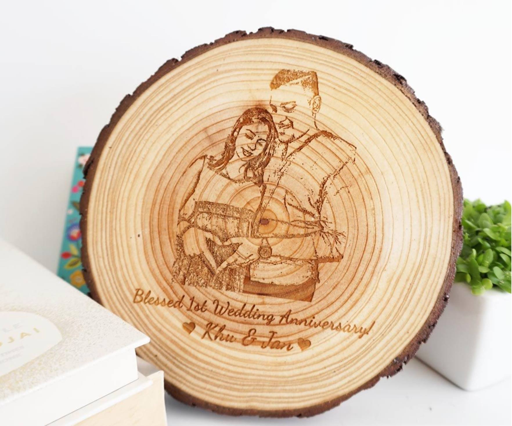 Personalised Wooden Slice Decoration