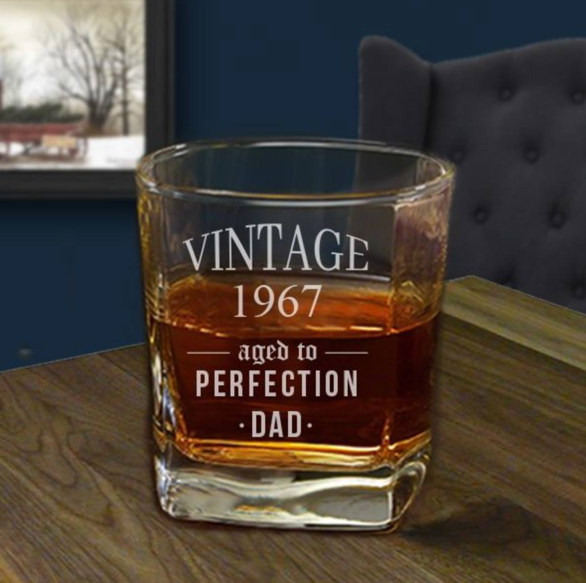 Personalized whiskey cup