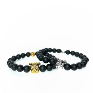 Gold Silver Bulldog Bracelet